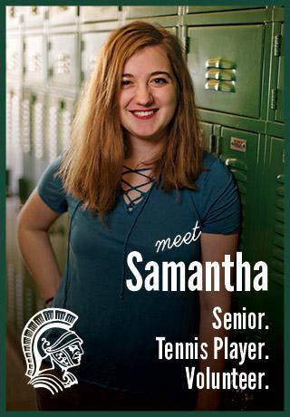 2018 Project Teen Money Samantha senior tennis player volunteer
