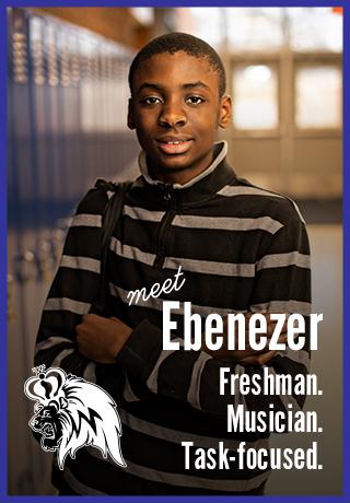 Meet Ebenezer | Freshman. Musician. Task-focused. | Madison West High School | Project Teen Money