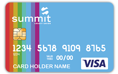 Summit Rainbow Debit Card