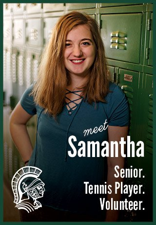 2018 Project Teen Money Samantha senior tennis player volunteer