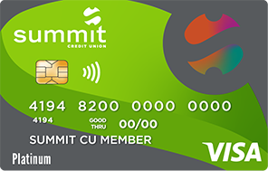 Summit's Visa Platinum Credit Card